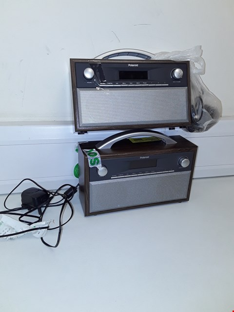 Lot 120 2 UNBOXED POLAROID WOODEN DAB RADIOS