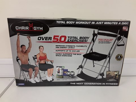 Lot 361 BOXED CHAIR GYM TOTAL BODY EXERCISE MACHINE