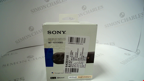 Lot 17179 SONY WF-1000XM3 TRULY WIRELESS NOISE CANCELLING HEADPHONES, UP TO 32H BATTERY LIFE, STABLE BLUETOOTH CONNECTION, WEARING DETECTION