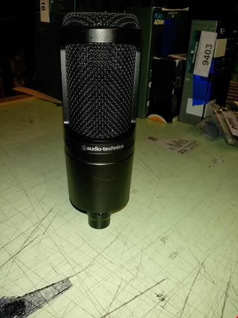 Lot 596 AUDIO-TECHNICA AT2020 CARDIOID CONDENSER MICROPHONE