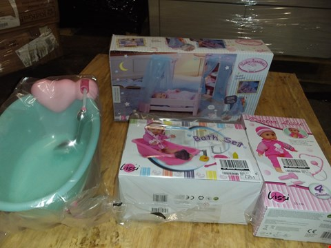 Lot 4494 BABY ANNABELL SWEET DREAMS BED + BABY DOLL AND BATH
