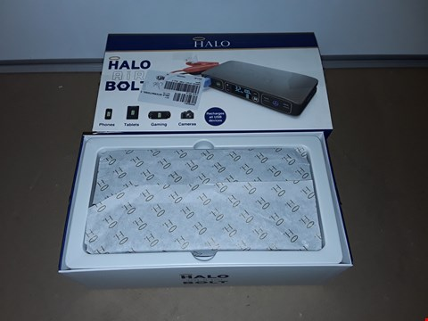 Lot 8129 HALO BOLT AIR 58830 PORTABLE CHARGER W/CAR JUMP STARTER & TYRE PUMP
