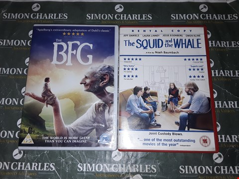 Lot 9131 THE BFG + THE SQUID AND THE WHALE DVD FILMS