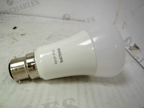 Lot 11079 PHILIPS HUE WHITE SMART BULB TWIN PACK