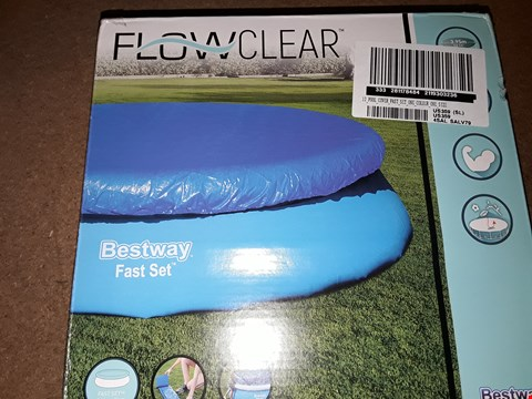 Lot 7149 BOXED BRAND NEW 12' POOL COVER FAST SET X 3 RRP £54.00