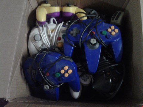 Lot 4857 BOX OF ASSORTED 3RD PARTY RETRO CONTROLLERS