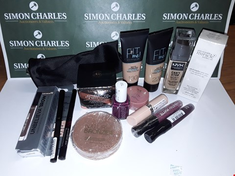 Lot 112 LOT OF APPROXIMATELY 15 ASSORTED MAKUP ITEMS TO INCLUDE RIMMEL, SANCTUARY SPA AND BOURJOUS
