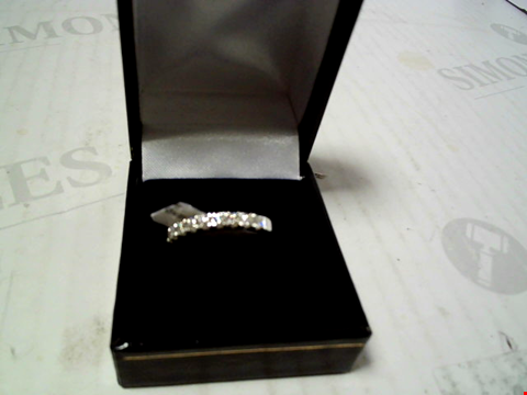 Lot 5510 9CT WHITE GOLD 50 POINT MICRO SETTING ETERNITY RING RRP £959.00