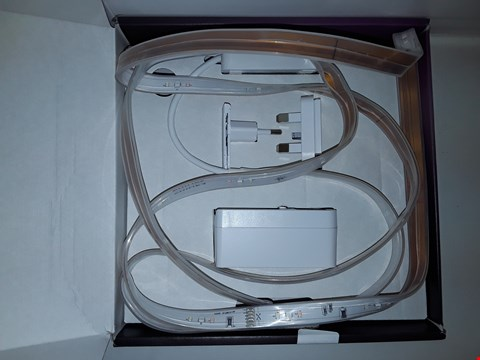 Lot 3643 PHILIPS HUE WHITE AND COLOUR AMBIENCE LIGHTSTRIP PLUS