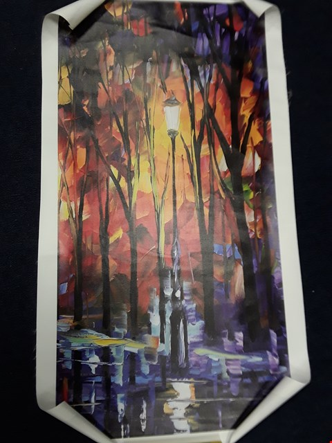 Lot 22 3 X STREET LIGHT PRINTS ON CANVAS