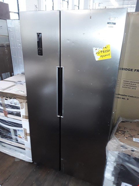 Lot 11003 SWAN SR15640S TOTAL NO FROST 90CM WIDE AMERICAN STYLE FRIDGE FREEZER - STAINLESS STEEL LOOK