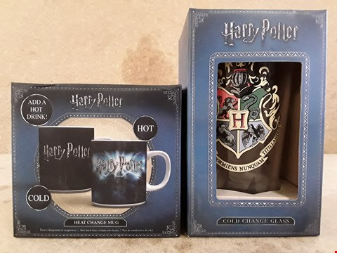 Lot 313 2 BRAND NEW BOXED HARRY POTTER ITEMS TO INCLUDE MUG AND GLASS