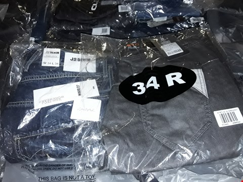 Lot 2038 LOT OF APPROXIMATELY 10 BRAND NEW MEN'S DESIGNER JEANS TO INCLUDE ASSORTED SIZES RRP £200