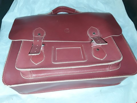 Lot 1006 RED LEATHER SATCHELL STYLE BAG
