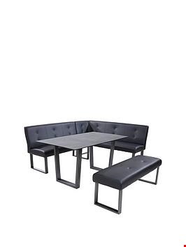 Lot 12114 DESIGNER BOXED CHICAGO 160CM BLACK DINING TABLE (1 BOX) - TABLE ONLY