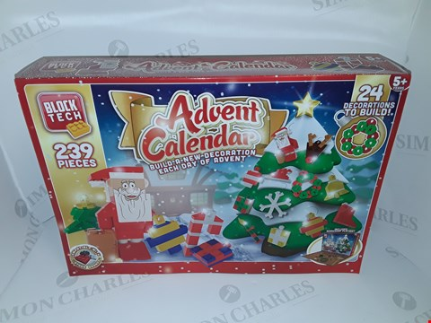Lot 12098 LOT OF 12 BOXED AS NEW BLOCK TECH 239-PIECE ADVENT CALENDERS