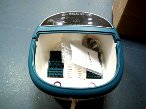 Lot 11296 FOOT BATH MASSAGER WITH HEAT - FOOT SPA MACHINE FEET SOAKING TUB FEATURES VIBRATION, SPA ROLLER MASSAGE MODES, 6 PRESSURE NODE ROLLERS STRESS RELIEVE FATIGUE & TENS