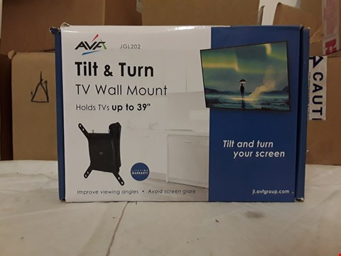 Lot 2074 AVF TILT & TURN TV WALL MOUNT HOLDS TV'S UP TO 39""