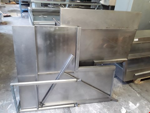 Lot 9067 LOT OF 2 L-SHAPED STAINLESS STEEL CATERING WORK UNITS