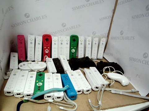 Lot 6193 BOX OF ASSORTED WII CONTROLLERS