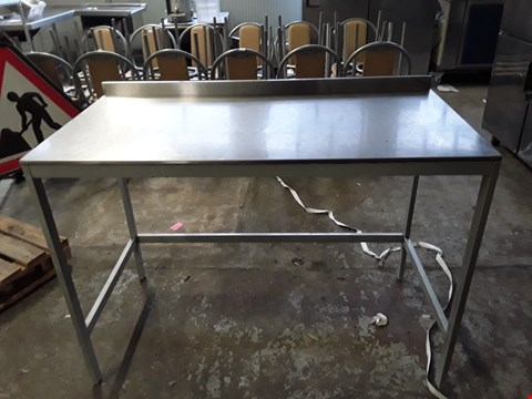 Lot 15 COMMERCIAL STAINLESS STEEL PREPARATION TABLE