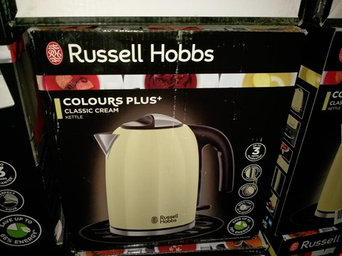 Lot 467 RUSSELL HOBBS COLOUR PLUS + CLASSIC CREAM KETTLE