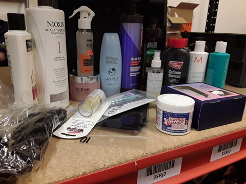 Lot 9059 TRAY OF APPROXIMATELY 20 ASSORTED BEAUTY ITEMS INCLUDING, NIOXIN CONDITIONER, CAFFINE SHAMPOO, CLEAN BLONDE SHAMPOO, RADOX, (TRAY NOT INCLUDED)