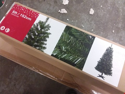 Lot 3144 BOXED 5FT WOODLAND CHRISTMAS TREE