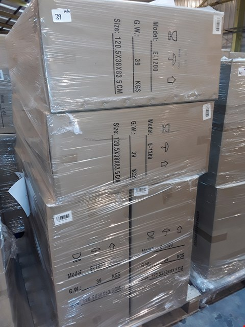 Lot 39 PALLET CONTAINING 4 BOXED 120CM WHITE GLOSS WINDSOR UNITS - E-1200