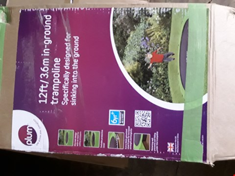 Lot 304 BOXED PLUM 12' IN GROUND TRAMPOLINE (3 BOXED)