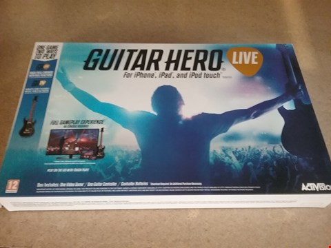 Lot 3040 2 BOXES OF 12 BRAND NEW GUITAR HERO LIVE FOR IPHONE IPAD AND IPOD TOUCH