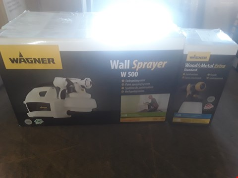 Lot 1199 WAGNER WALL SPRAYER AND WOOD AND METAL EXTRA ATTACHMENT