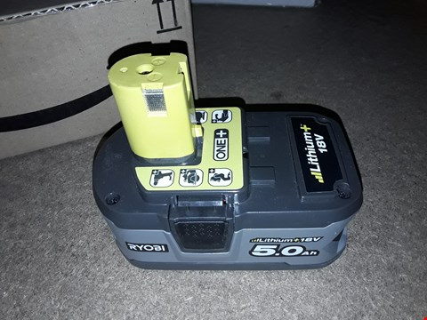 Lot 2268 RYOBI 18V LITHIUM BATTERY