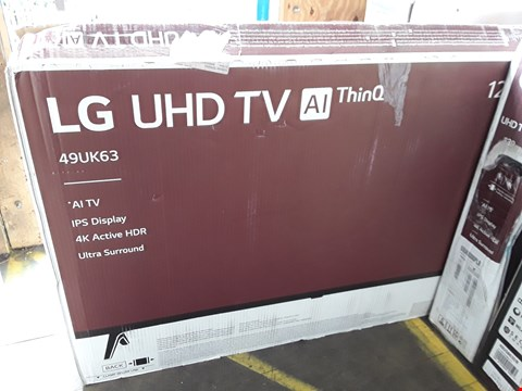 "Lot 1044 LG 49"" UHD 4K HDR SMART LED TELEVISION MODEL 49UK6300PLB RRP £900.00"