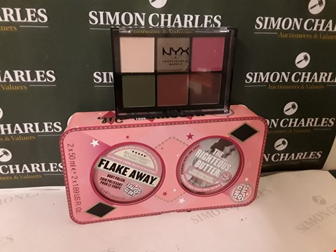 Lot 73 LOT OF 2 ASSORTED COSMETIC ITEMS TO INCLUDE NYX PROFESSIONAL MAKEUP AND SOAP&GLORY SET