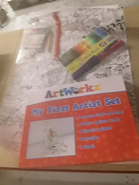 Lot 316 4 ASSORTEDART PRODUCTS TO INCLUDE; ART WORK MY FIRST ARTIST SET, FELT PENS AND COLOURING POSTER