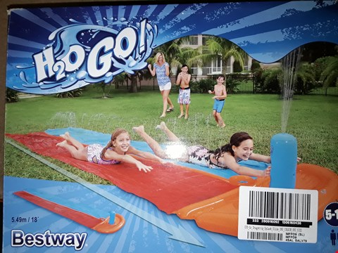 Lot 7150 BRAND NEW H20 GO! DRAGSTRIP SPLASH SLIDE X 2  RRP £76.00