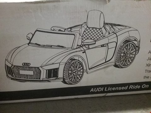 Lot 2111 AUDI R8 BATTERY OPERATED RIDE-ON CAR - WHITE RRP £215