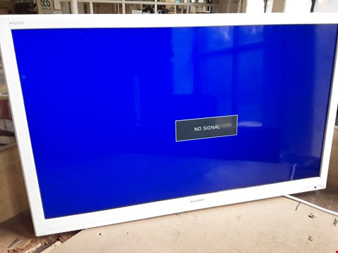 """Lot 56 SHARP AQUOS 24"""" WHITE TV/DVD COMBI TELEVISION Model LC-24DHF4011KW"""