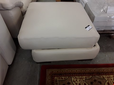 Lot 63 QUALITY ITALIAN DESIGNER SENSOR ROSE BEIGE LEATHER STORAGE FOOTSTOOL
