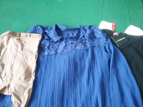 Lot 68 BOX OF APPROXIMATELY 14 ITEMS OF CLOTHING TO INCLUDE 2 IN 1 JACQUARD PROM DRESS AND RALSTON REGULAR FIT JEANS  RRP £991.00