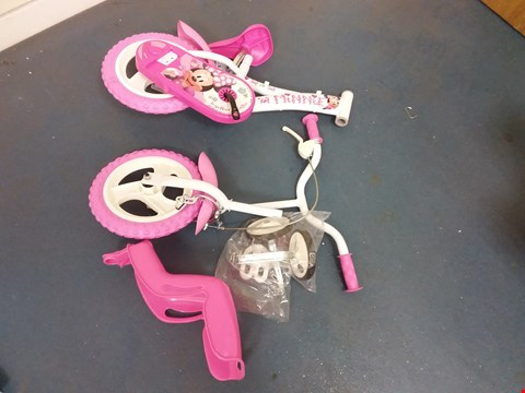 Lot 10527 BOXED MINNIE MOUSE 12 INCH BICYCLE RRP £130.00