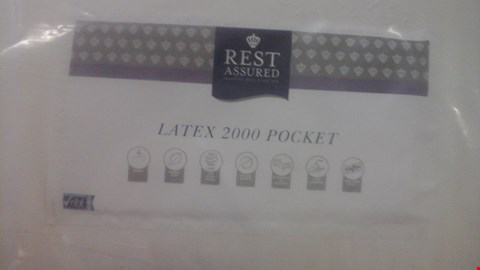 Lot 1285 QUALITY BAGGED REST ASSURED LATEX 2000 POCKET 5FT MATTRESS