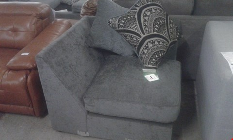 Lot 97 DESIGNER GREY FABRIC SOFA SECTION WITH CUSHIONS
