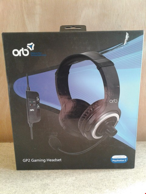 Lot 629 BRAND NEW BOXED ORB GP2 GAMING HEADSET COMPATIBLE WITH PLAYSTATION 3