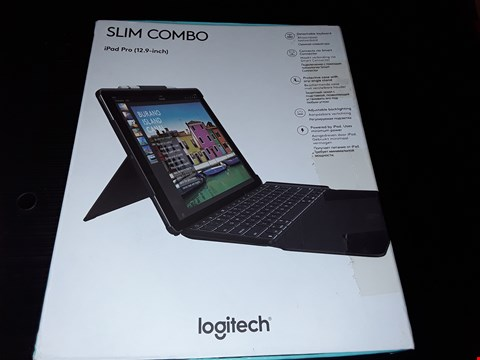"Lot 91 BOXED LOGITECH SLIM COMBO IPAD PRO 12.9"" CASE WITH DETACHABLE KEYBOARD"