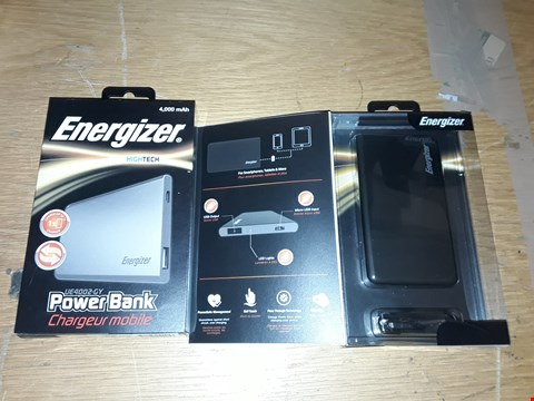 Lot 6135 LOT OF 2 ENERGIZER 4,000 MAH POWER BANKS
