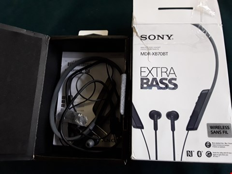 Lot 179 SONY MDR-XB70BT EXTRA BASS BLUETOOTH WIRELESS STEREO HEASET RRP £84.99