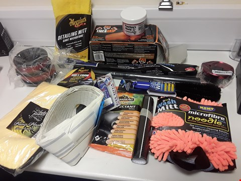 Lot 4106 TRAY OF APPROXIMATELY 15 CAR CARE PRODUCTS (TRAY NOT INCLUDED)