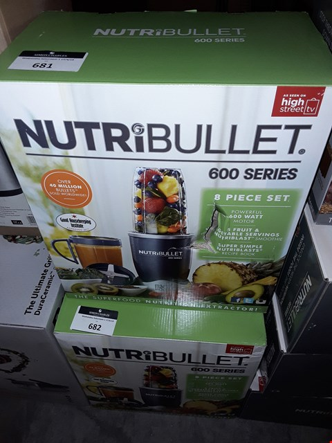 Lot 681 NUTRIBULLET 600 SERIES 8 PIECE SET